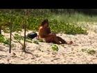 Tassiana e Otário Mesquita na praia de naturismo - Pânico na Band - 16/09/12