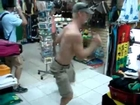 Funny Dancing Tourist