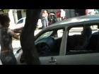Girl destroys ex car