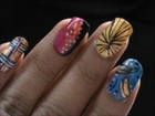 Retro Style Disco Magic Nails easy nail art for short & long nails art tutorial- beginners designs