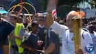 Patrick Stewart Carries Olympic Torch in London
