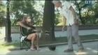 Street musician - sexy hidden camera